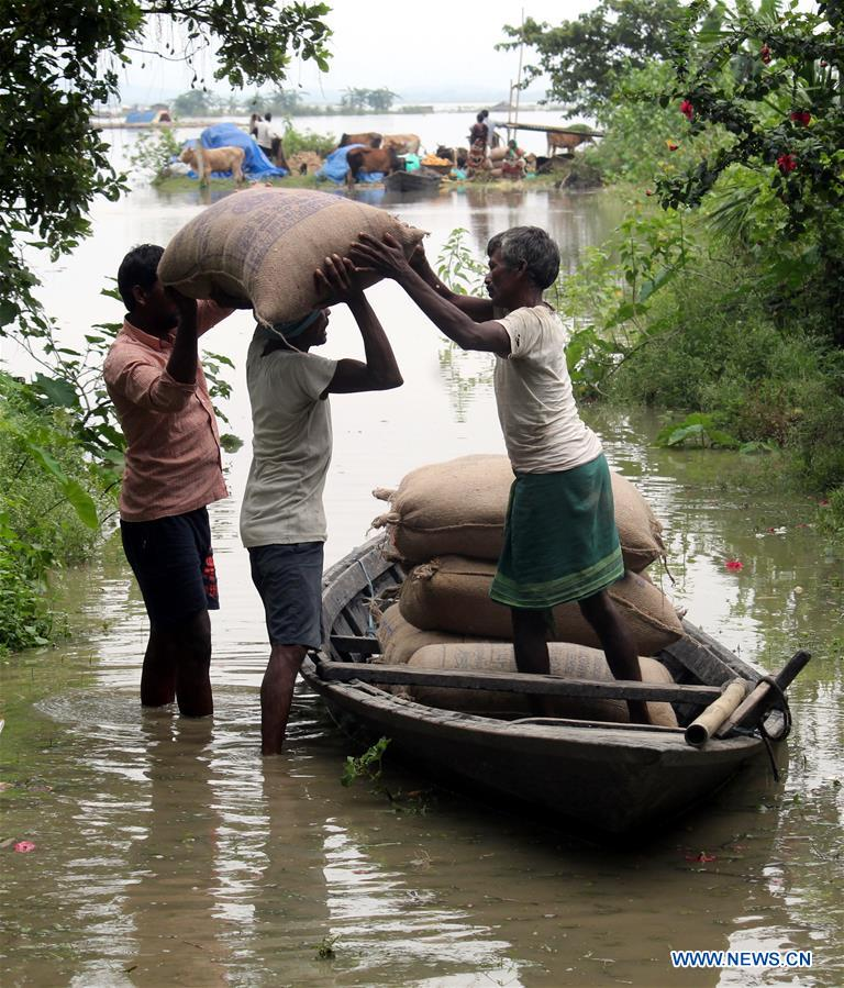 6 killed, around 900,000 affected by floods in India's Assam state - Xinhua   English.news.cn