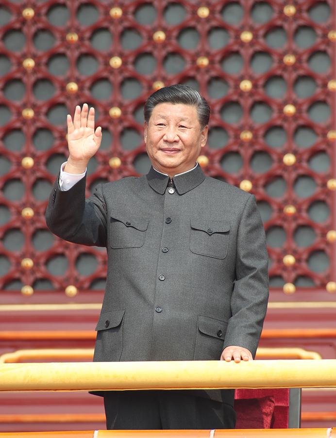 中国举行盛大阅兵式_庆祝中华人民共和国成立70周年大会在京隆重举行 天安门广场 ...