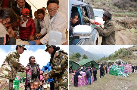 西藏抗震救灾: 吉隆县萨勒乡灾区见闻