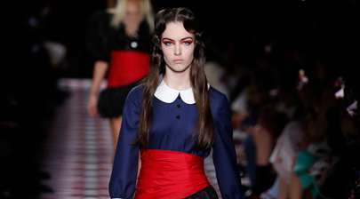 Creations by Miu Miu presented during fashion show in Paris